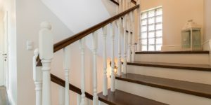 image of stairway refinishing performed by JD MacGillivray Painting and Decorating of Newmarket, Aurora, King City, Richmond Hill and Markham